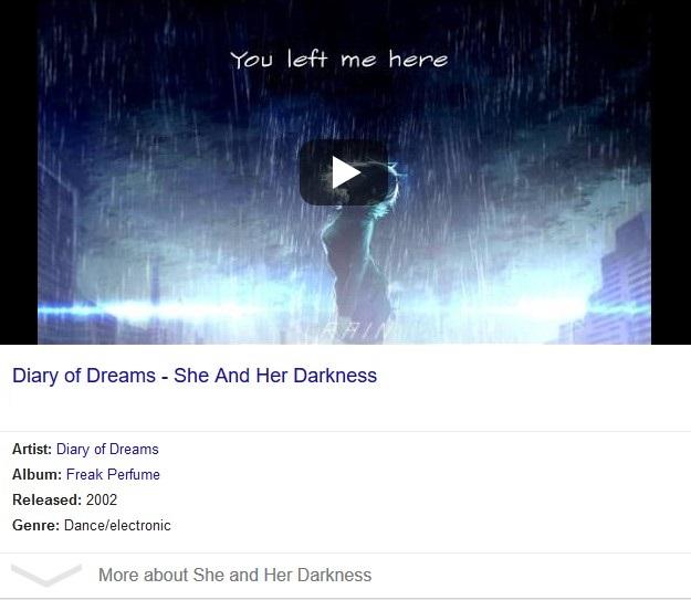 متن و ترجمه آهنگ she and her darkness